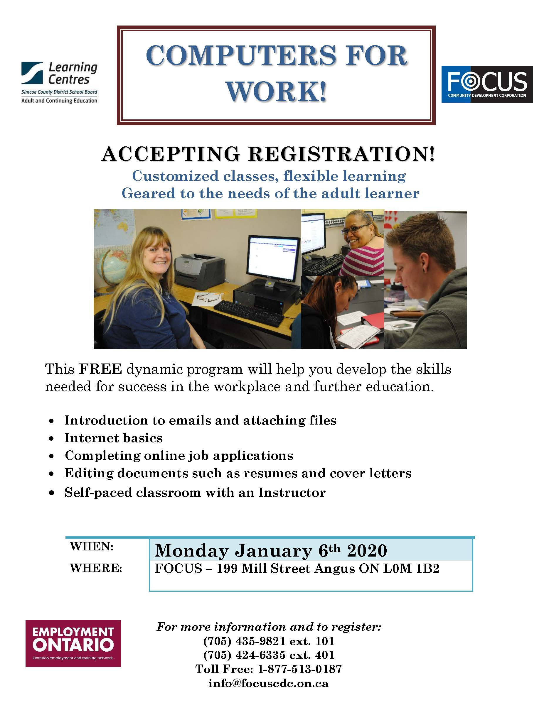 Computers for Work Poster Angus 2019
