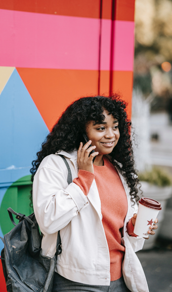 Teen on the phone with a helpline